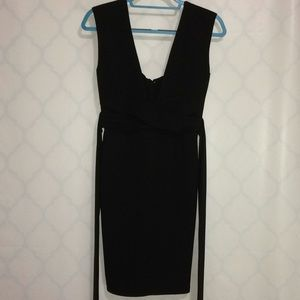 Lulus Black Dress sleeveless waist tie size M